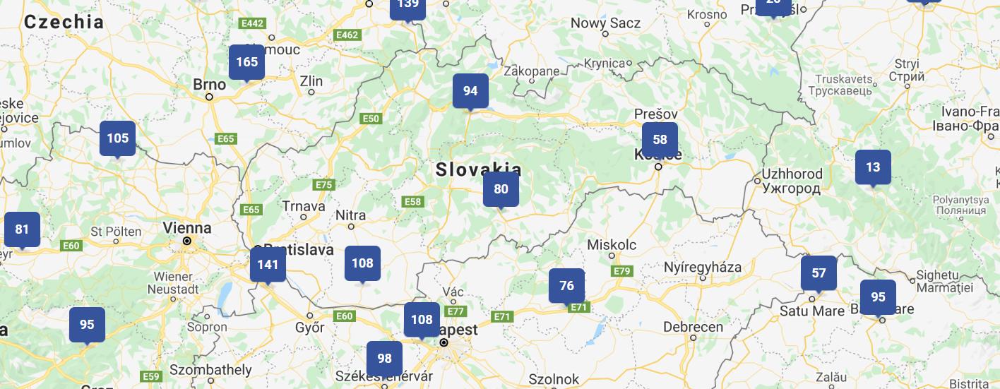 map slovakia